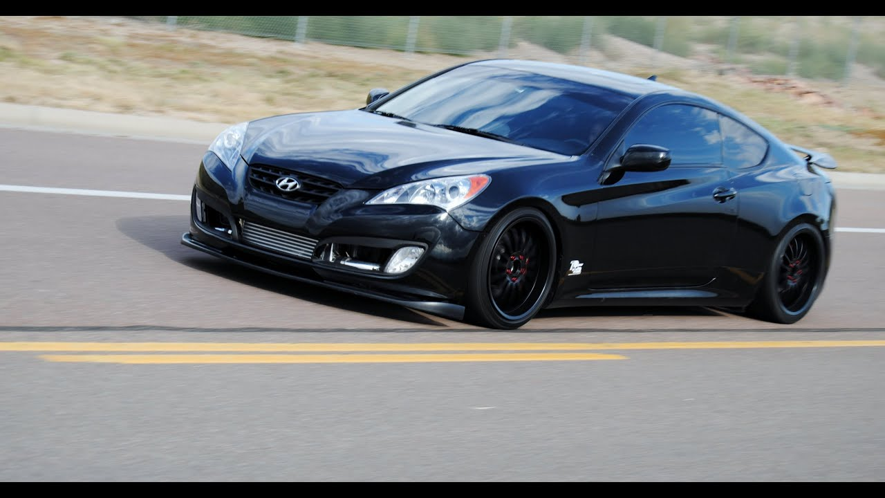 2010 Murdered out Hyundai Genesis Coupe - YouTube