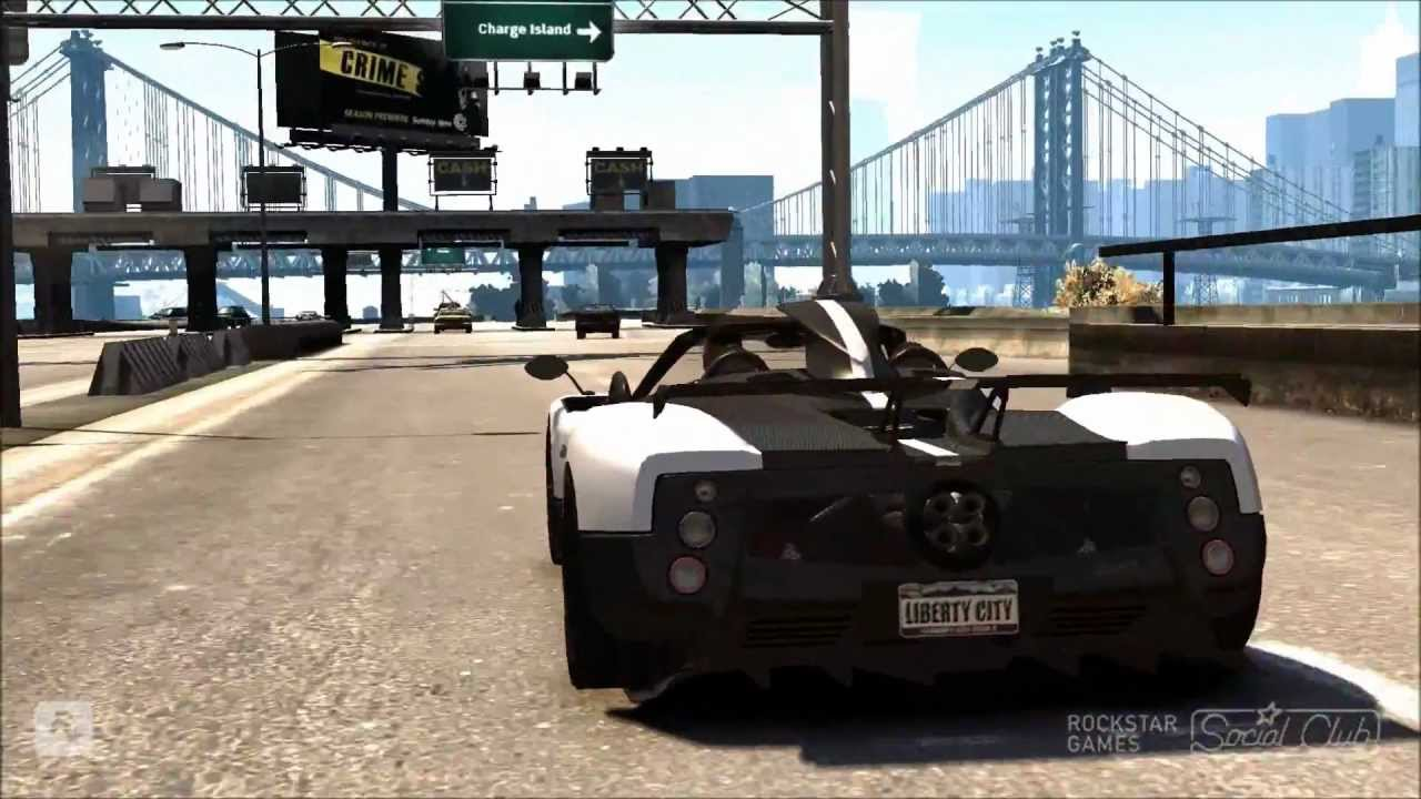 GTA IV 2010 Pagani Zonda Cinque Roadster Mod 1080p