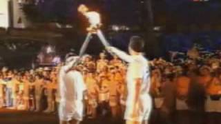 Barcelona 1992 Opening Ceremony - Olympic Flame - Lightning of the Cauldron