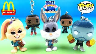SPACE JAM 2 A NEW LEGACY COMPLETE SET FUNKO POP POCKET KEYCHAINS McDONALD'S HAPPY MEAL TOYS UNBOXING
