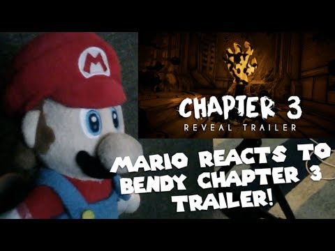 Mario Reacts To Bendy & The Ink Machine Chapter 3 Trailer!