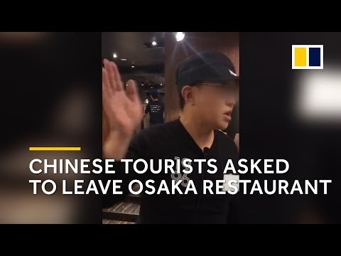 'Please just go': Chinese tourists asked to leave Osaka restaurant