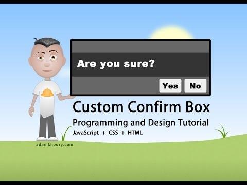 JavaScript Custom Confirm Box Programming Tutorial