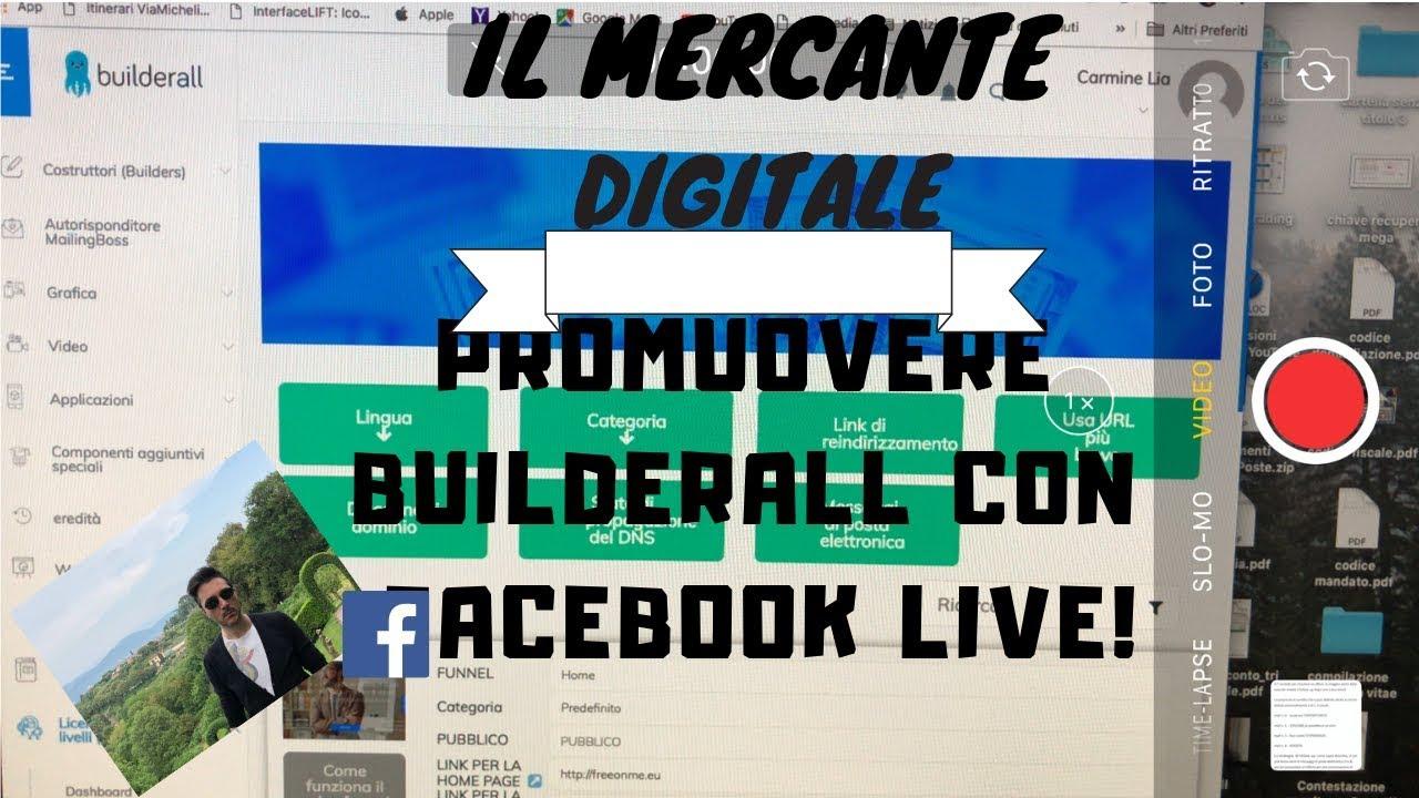 Promuovere Builderall con Facebook Live
