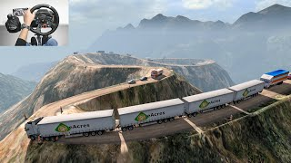 Road Train On Dangerous Mountain Road | Mega Transports | Euro truck simulator 2 | Volvo truck