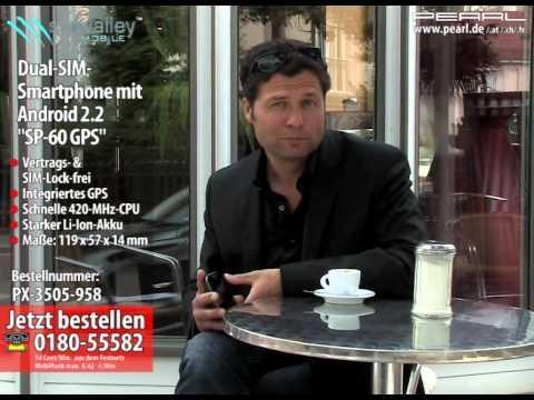 "Dual-SIM-Smartphone mit Android 2.2 ""SP-60 GPS"", WLAN (refurbished)"