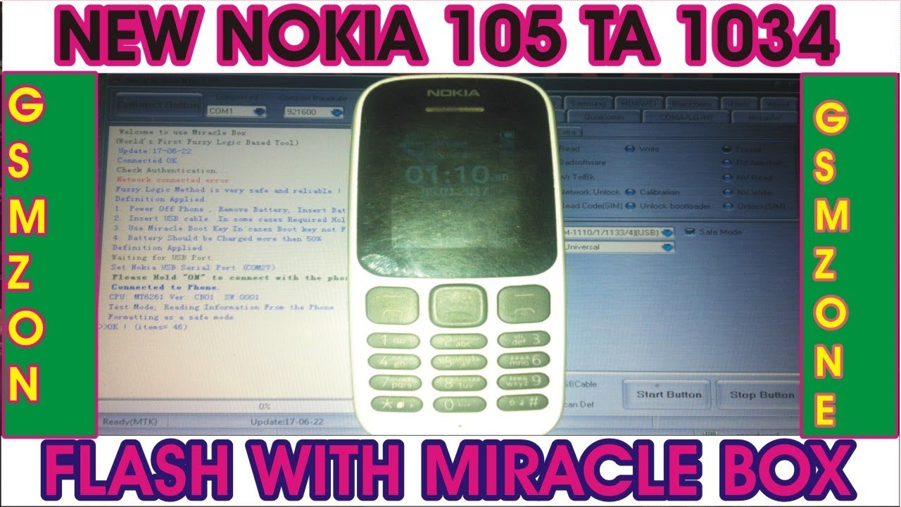 How to new nokia 105 ta 1034 security code unlock with miracle box 2019|Gsm  zone