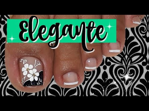 Decoración De Uñas Pies Elegantechic Feet Nail Decoration Youtube