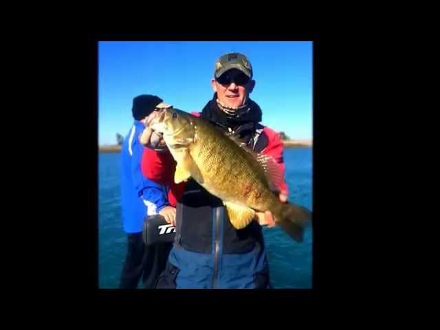 Fall Smallmouth Bass Fishing on Lake St. Clair 2014