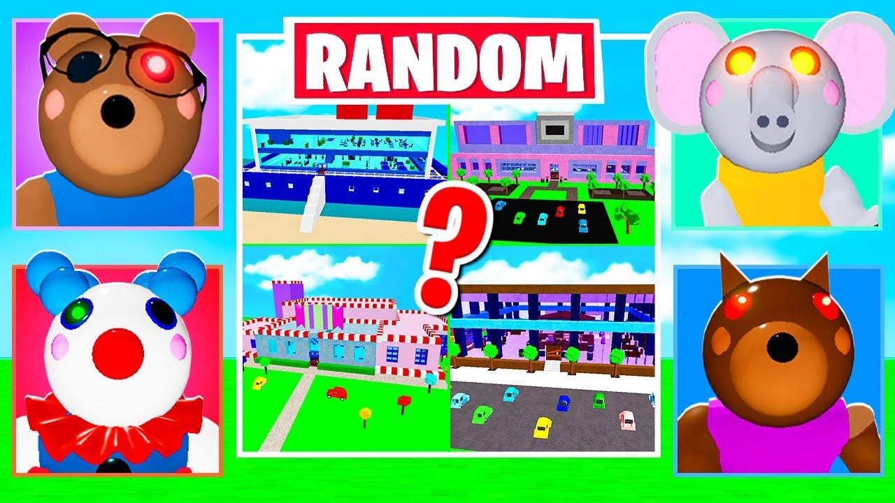 ROBLOX PIGGY RANDOM MAPS & SKIN CHALLENGE! (Part 10)