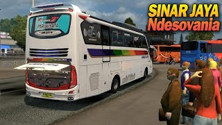Keren Ada Tukang Parkir - Bus Sinar Jaya Euro Truck Simulator Map NDESOVANIA