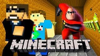 Minecraft: THE INCREDIBLES 2 MURDER!! | MODDED MINI-GAME thumbnail