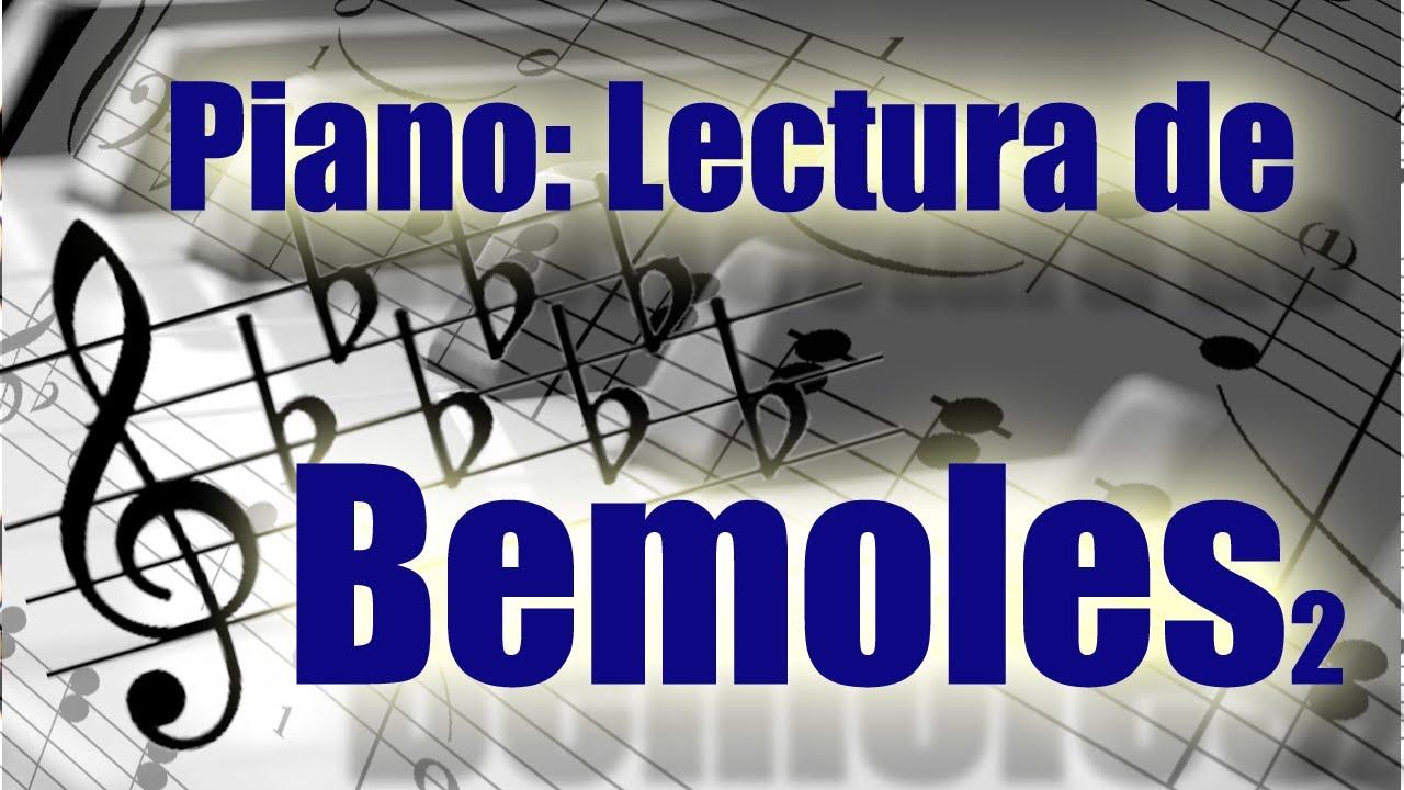 Aprende a leer bemoles en el piano. Doloroso pero necesario. Lectura con muchos bemoles en la clave.