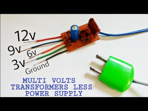 transformerless power supply multi volt power supply youtubelike subscribe if