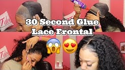 All GLUE no THREAD | Lace Frontal Quick Weave | Start to Finish | Klaiyi Hair