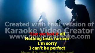 simple plan-perfect.( karaoke )