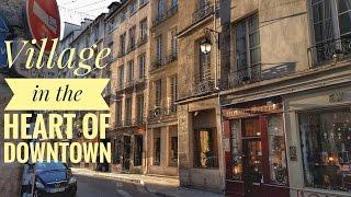A medieval village in downtown Paris