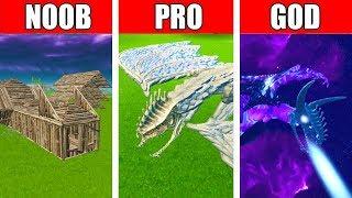 Fortnite NOOB vs PRO vs GOD: EPIC DRAGON BUILD CHALLENGE in Fortnite