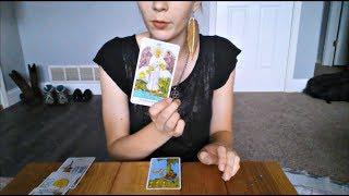 Tarot Card Reading | Soft Spoken ASMR Roleplay | Tapping & Card Sounds