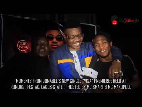 Moments from Jumabee's new single #Visa premiere listening party held at Club Rumors Festac