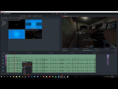 Como dividir pistas y cortar un vídeo en Lightworks 14