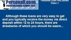 How can I get a personal loan quickly despite my poor credit history? - Personal Loan FAQ Series