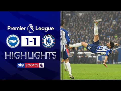 Jahanbakhsh scores stunning overhead kick! | Brighton 1-1 Chelsea | Premier League Highlights
