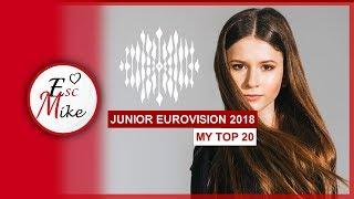 Junior Eurovision 2018 - My Top 20