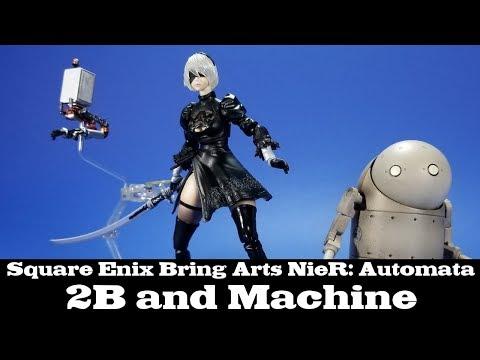 Bring Arts NieR: Automata 2B and Machine Square Enix Review