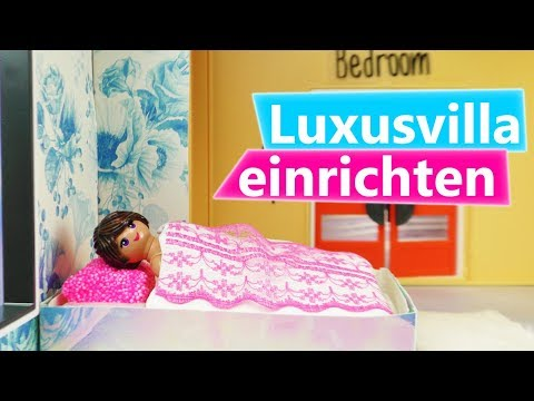 playmobil diy luxusvilla einrichten stellas neues schlafzimmer wandtattoo blumen f r. Black Bedroom Furniture Sets. Home Design Ideas