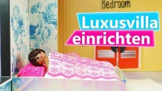 Playmobil DIY Luxusvilla einrichten | Stellas neues Schlafzimmer | Wandtattoo & Blumen für Stella