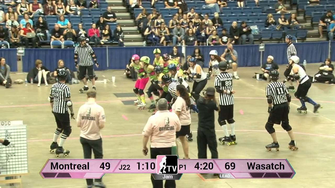 Roller skating montreal - Montr Al Roller Derby V Wasatch Roller Derby 2013 Wftda D1 Playoffs In Fort Wayne