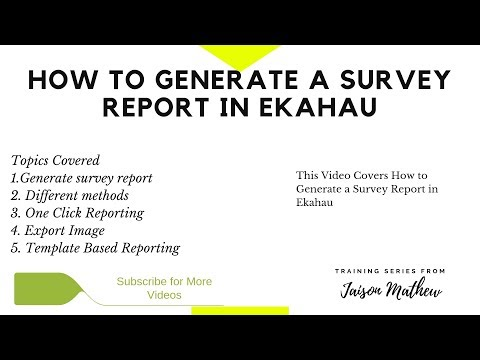 How to Generate a Survey Report in Ekahau - YouTube