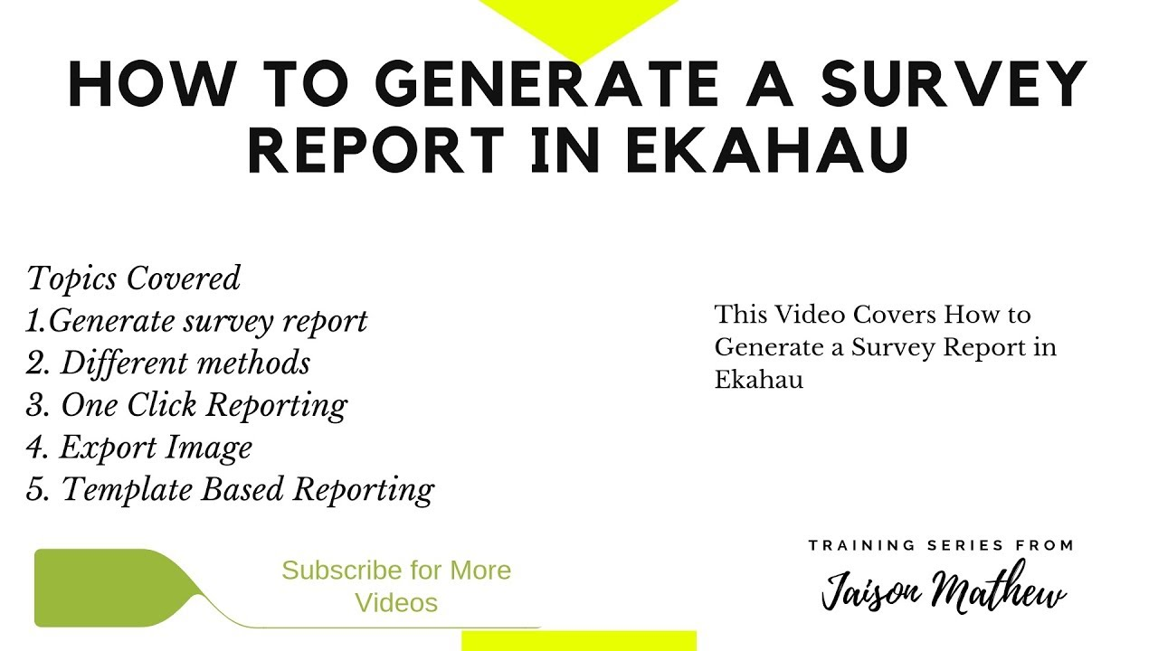 How to Generate a Survey Report in Ekahau