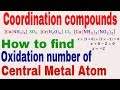 Coordination Compounds || Complex Ion || How To Find Oxidation Number Of Central Metal Atom
