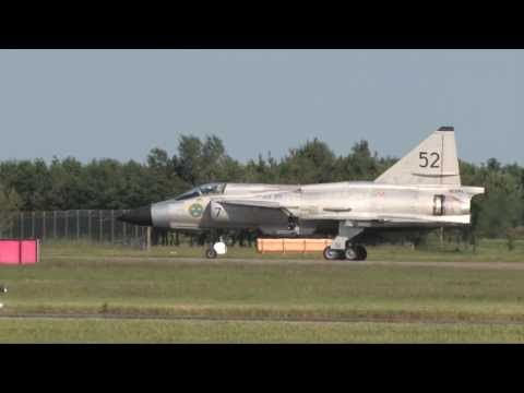 SAAB VIGGEN Swedish Air Force Historic Flight At RAF Waddington Airshow 2013
