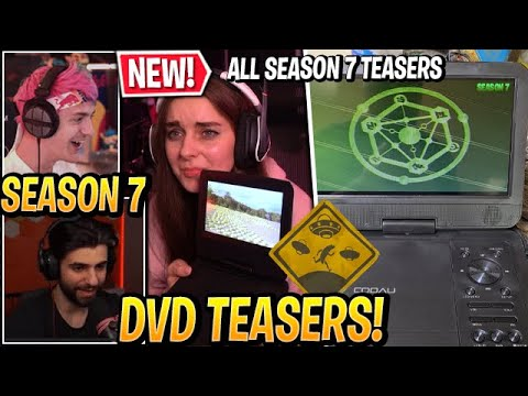 """Download Streamers React to ALL *NEW* """"SEASON 7 TEASERS"""" in Fortnite (DVD UFO Theme)"""