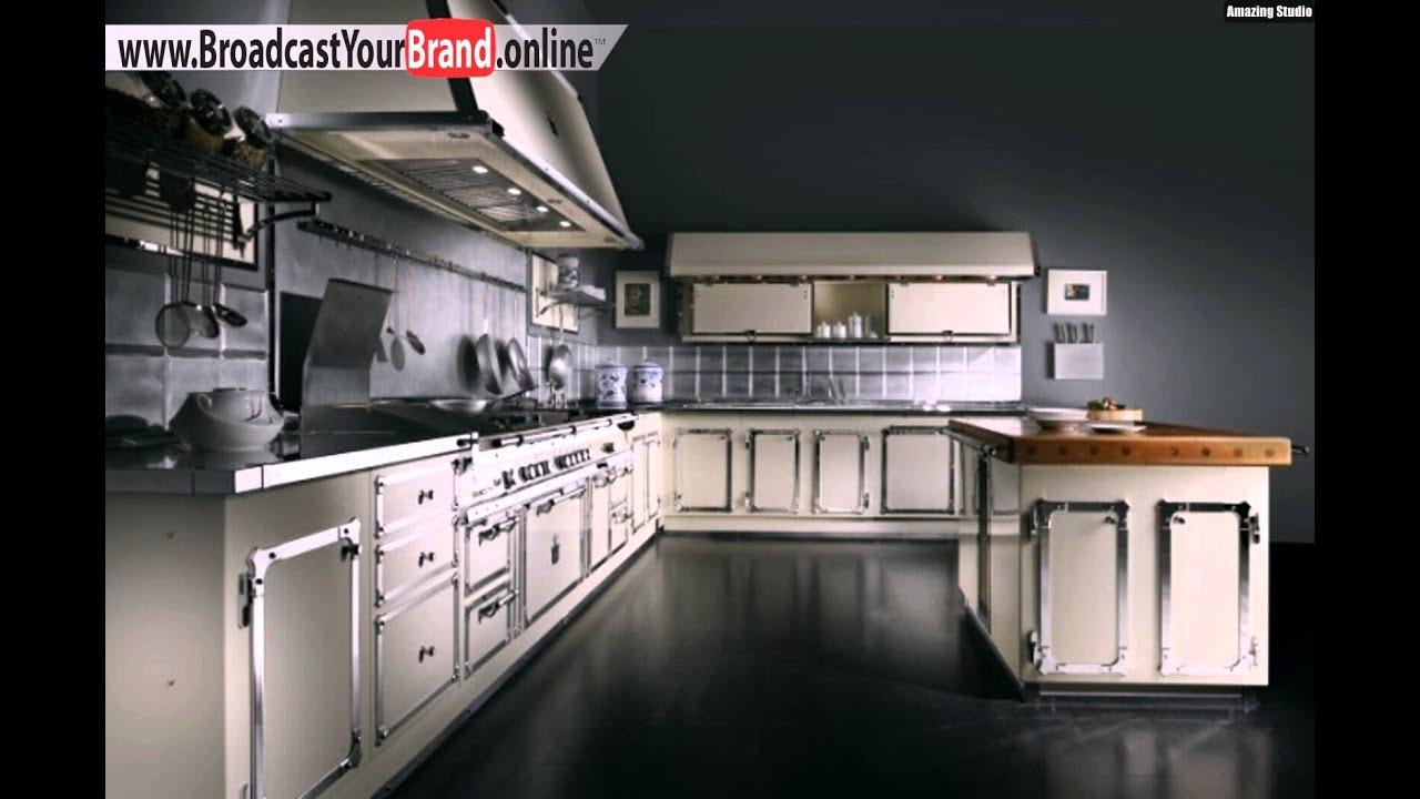 Retro Stil Designer Edelstahl Küche Officine Gullo - YouTube