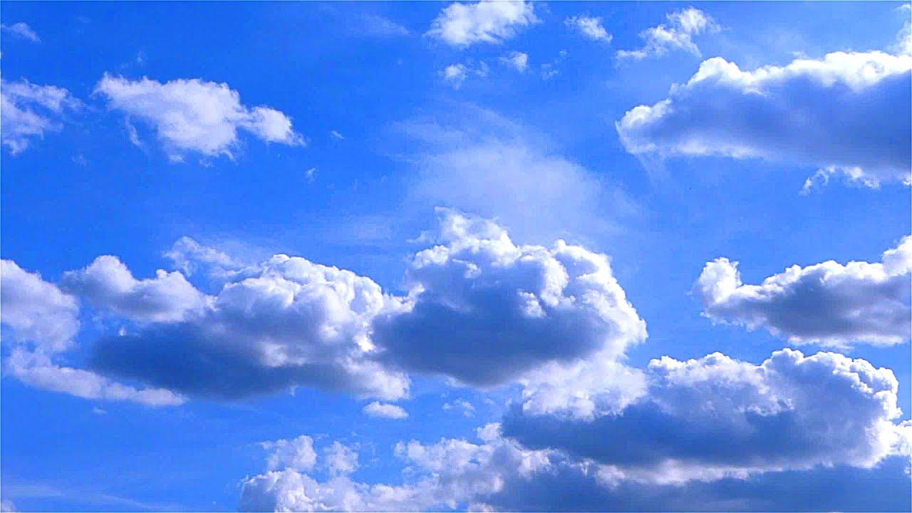 Красивые Облака в Голубом Небе. Движение Облаков. Красивое ...