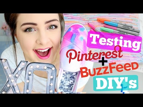 Testing Pinterest and Buzzfeed DIY's !!