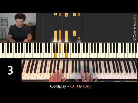 COLDPLAY - O (FLY ON) - Piano Easy Step By Step Tutorial