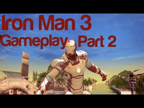 Iron Man 3 Gameplay Part 2 - The Official Game iOS | WikiGameGuides