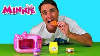 disney minnie mouse marvelous microwave set    toy review    konas2002