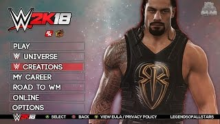 WWE 2K18 MAIN MENU & GAME MODES | PS3/XB360 | Concept/Notion