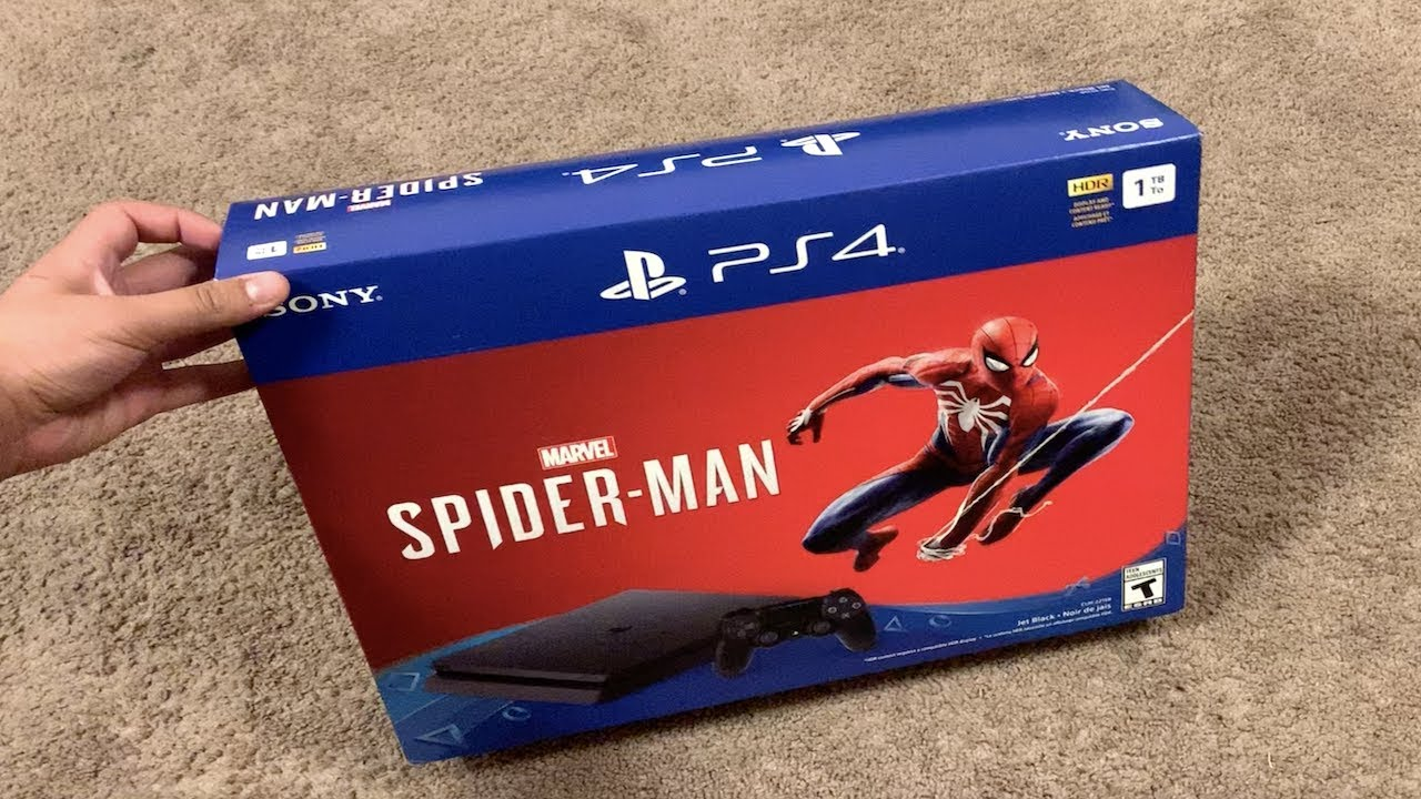 ps4 spiderman console