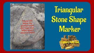 Triangular Stone Shape Marker   Yamashita Treasures