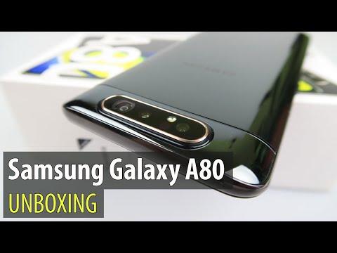 Samsung Galaxy A80 Unboxing (Sliding and Rotating Camera Phone)