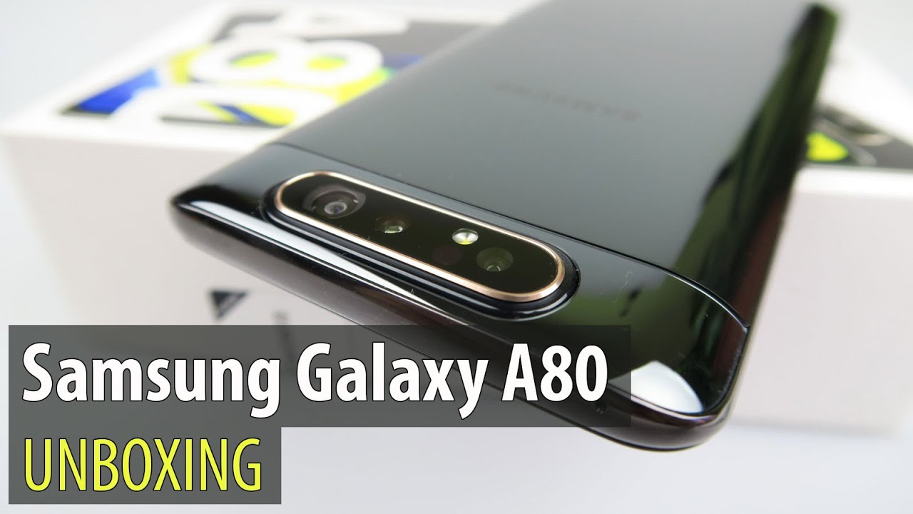 Samsung Galaxy A80 Unboxing (Sliding and Rotating Camera Phone)