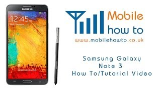 How To Remove A Google Account -  Samsung Galaxy Note 3
