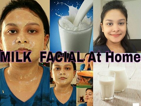 How To Do MILK FACIAL At Home For Fair Glowing Spotless Skin | दूध से करे फेशियल | How to do facial